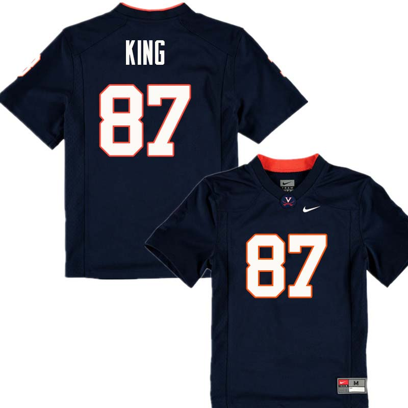Men #87 Andrew King Virginia Cavaliers College Football Jerseys Sale-Navy
