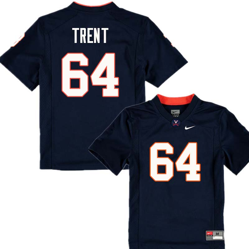 Men #64 Ben Trent Virginia Cavaliers College Football Jerseys Sale-Navy