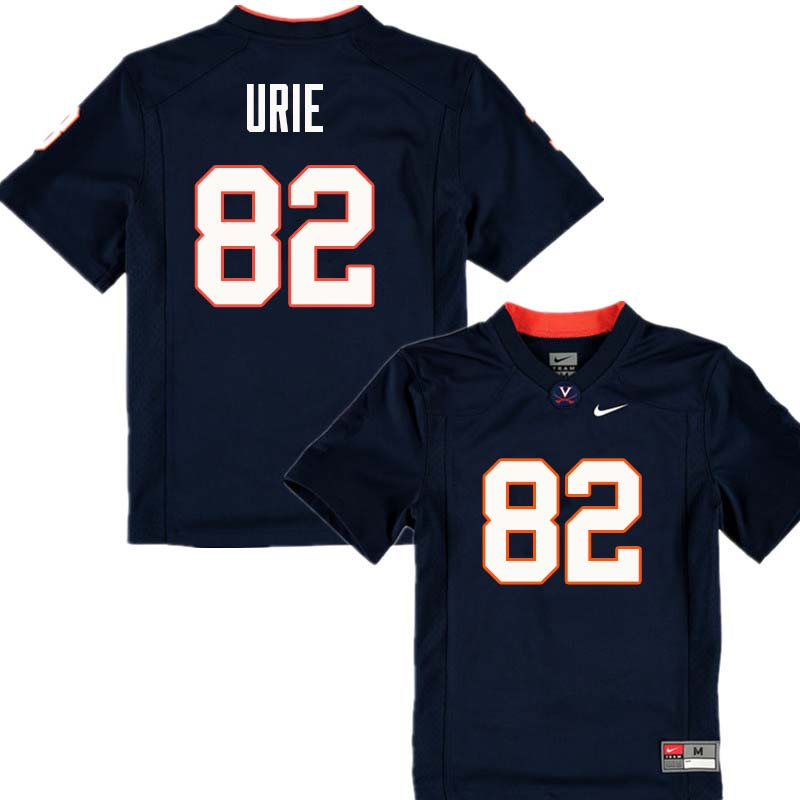 Men #82 Braedon Urie Virginia Cavaliers College Football Jerseys Sale-Navy