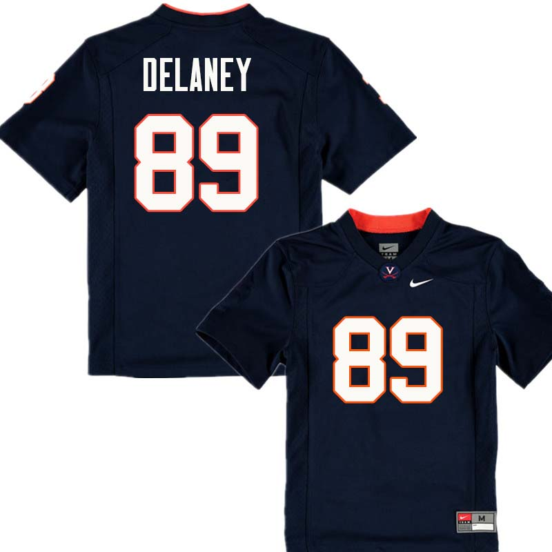 Men #89 Brian Delaney Virginia Cavaliers College Football Jerseys Sale-Navy