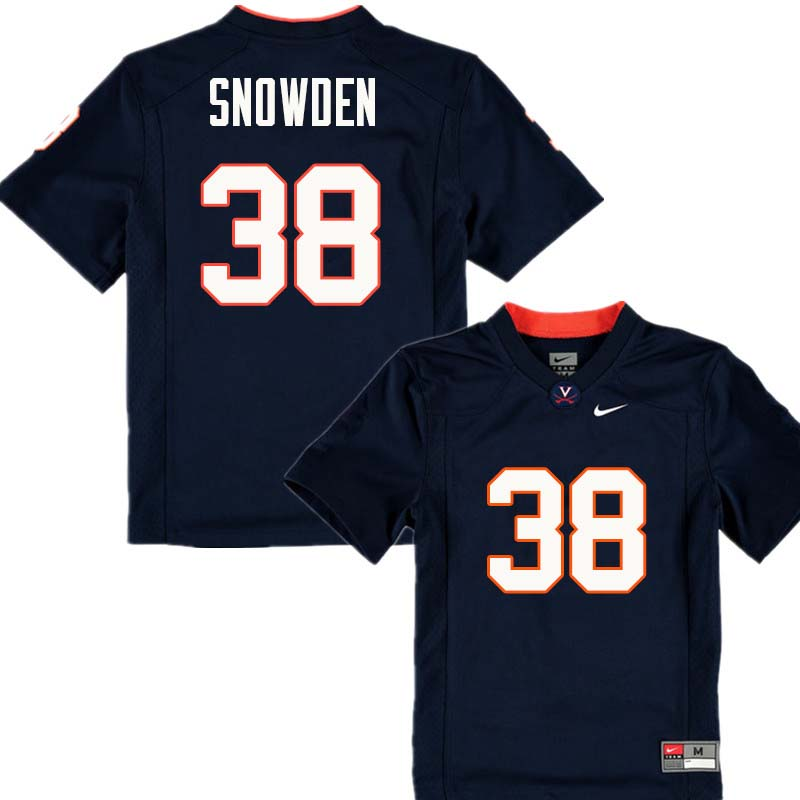 Men #38 Charles Snowden Virginia Cavaliers College Football Jerseys Sale-Navy