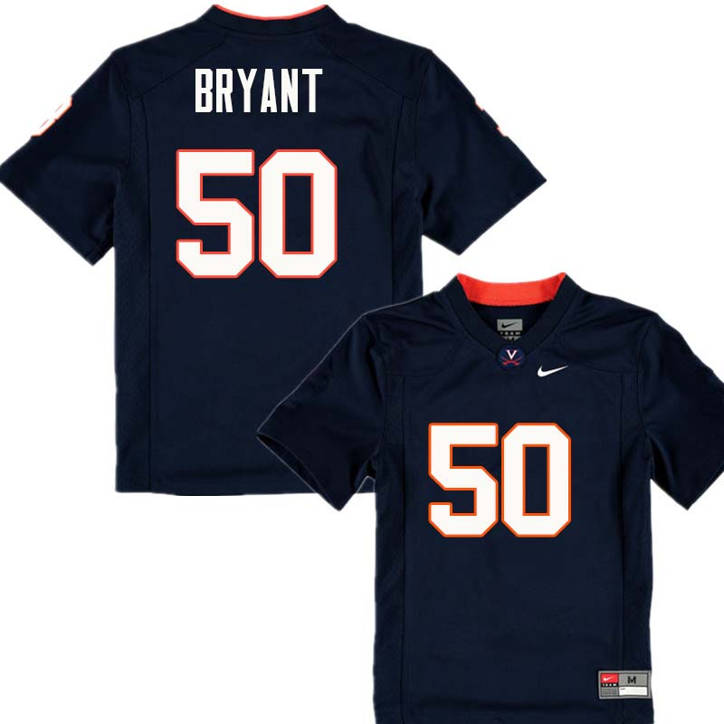 Men #50 Dre Bryant Virginia Cavaliers College Football Jerseys Sale-Navy