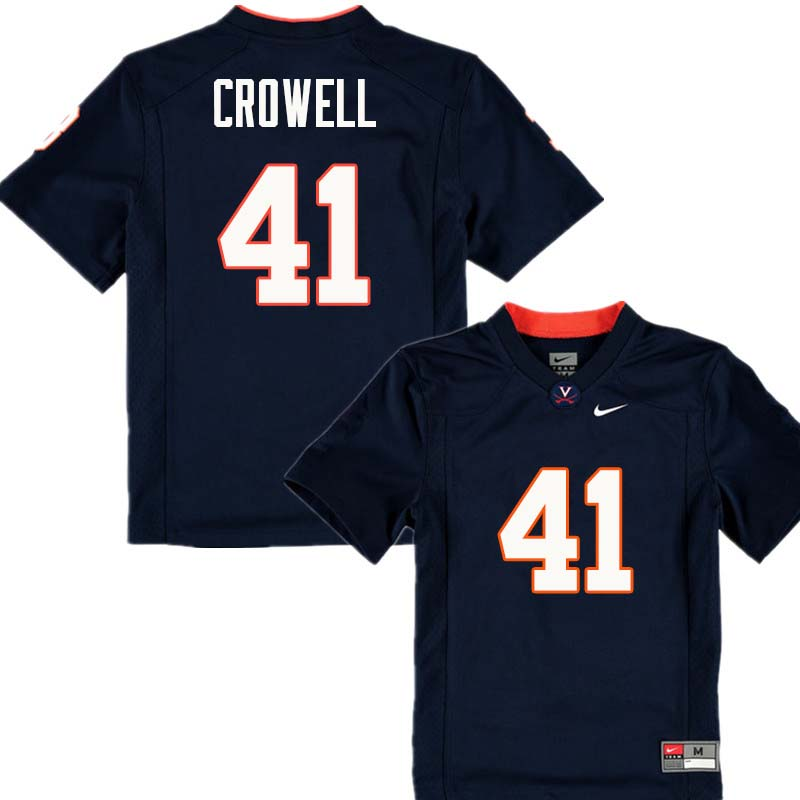 Men #41 Germane Crowell Virginia Cavaliers College Football Jerseys Sale-Navy