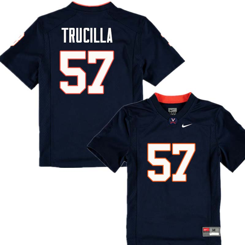 Men #57 James Trucilla Virginia Cavaliers College Football Jerseys Sale-Navy