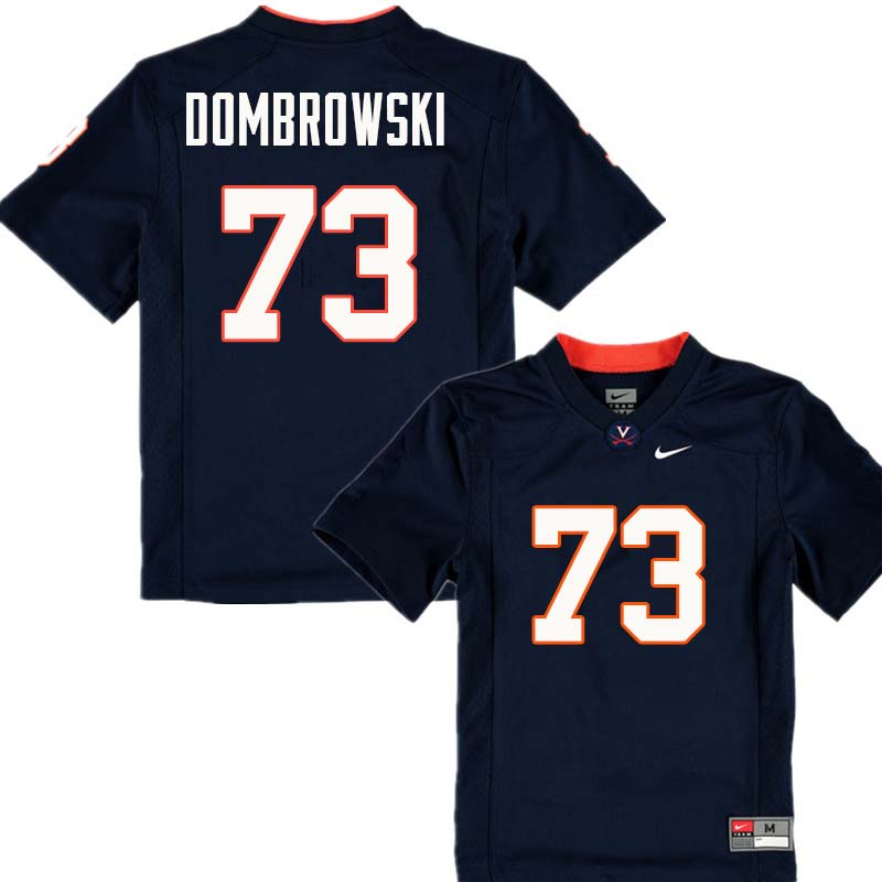 Men #73 Jim Dombrowski Virginia Cavaliers College Football Jerseys Sale-Navy