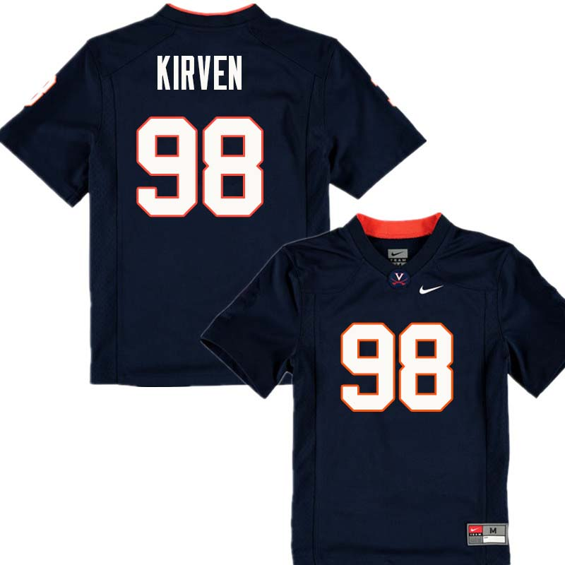 Men #98 John Kirven Virginia Cavaliers College Football Jerseys Sale-Navy