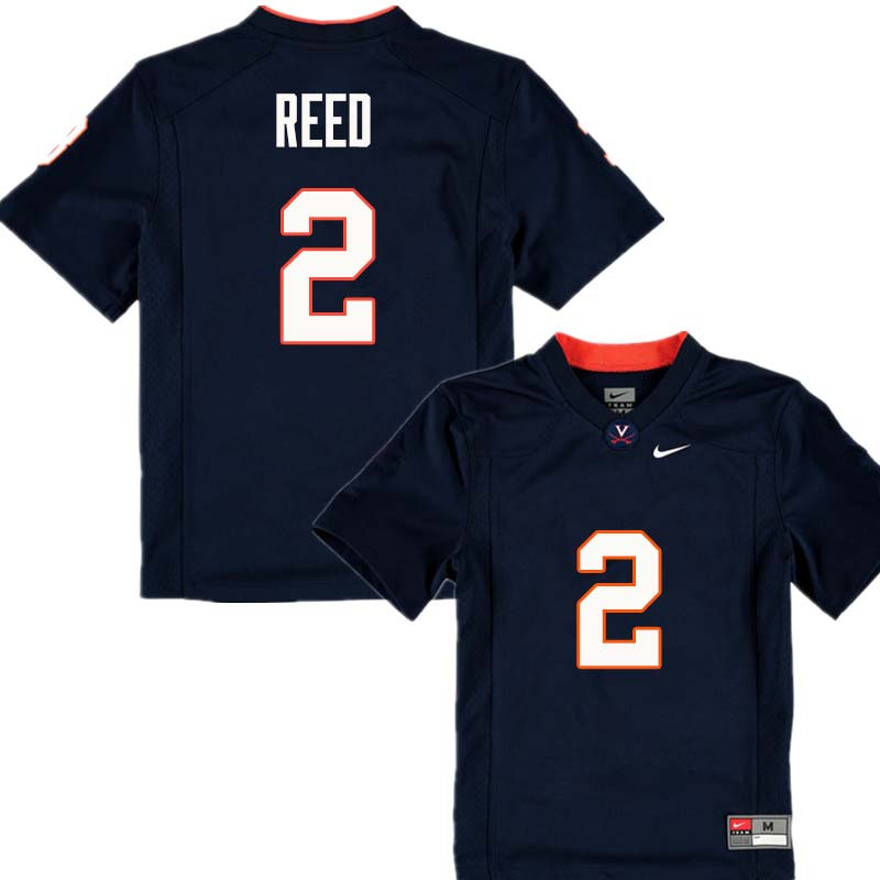 Men #2 Joseph Reed Virginia Cavaliers College Football Jerseys Sale-Navy