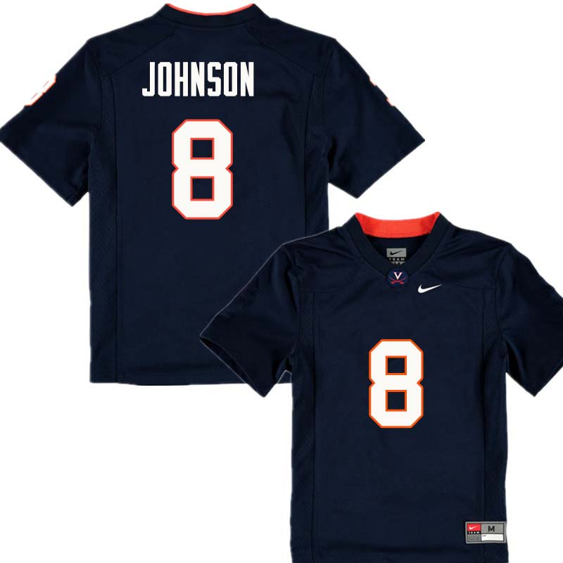Men #8 Keeon Johnson Virginia Cavaliers College Football Jerseys Sale-Navy