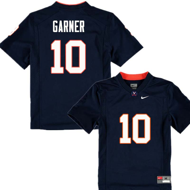 Men #10 Kirk Garner Virginia Cavaliers College Football Jerseys Sale-Navy