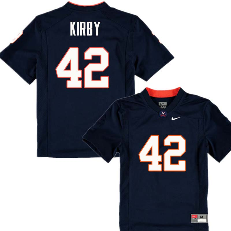Men #42 Terry Kirby Virginia Cavaliers College Football Jerseys Sale-Navy