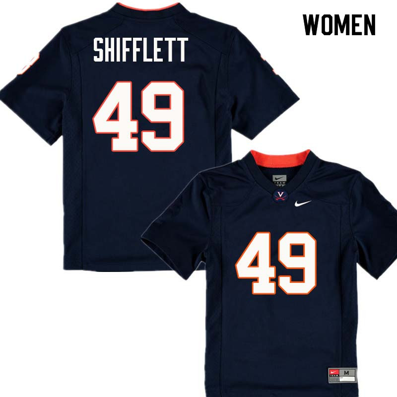 Women #49 Alec Shifflett Virginia Cavaliers College Football Jerseys Sale-Navy