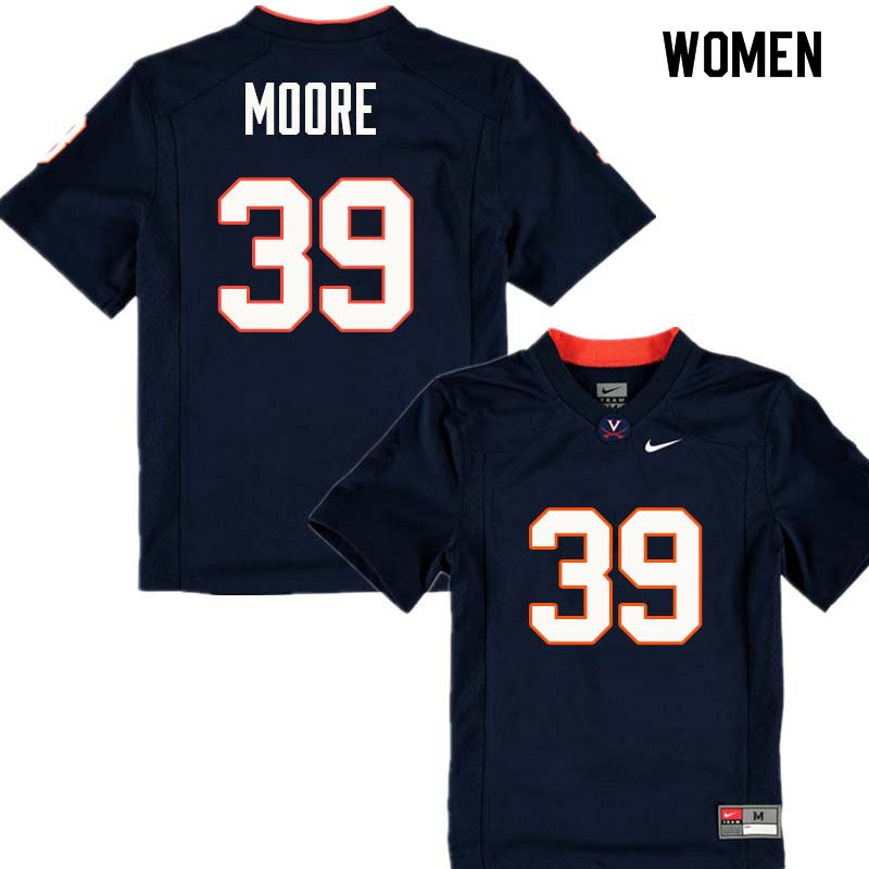 Women #39 Chris Moore Virginia Cavaliers College Football Jerseys Sale-Navy