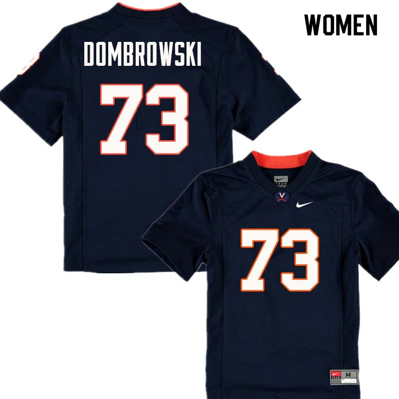 Women #73 Jim Dombrowski Virginia Cavaliers College Football Jerseys Sale-Navy