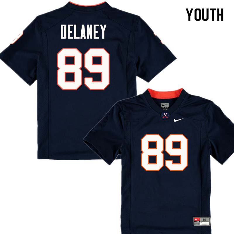 Youth #89 Brian Delaney Virginia Cavaliers College Football Jerseys Sale-Navy