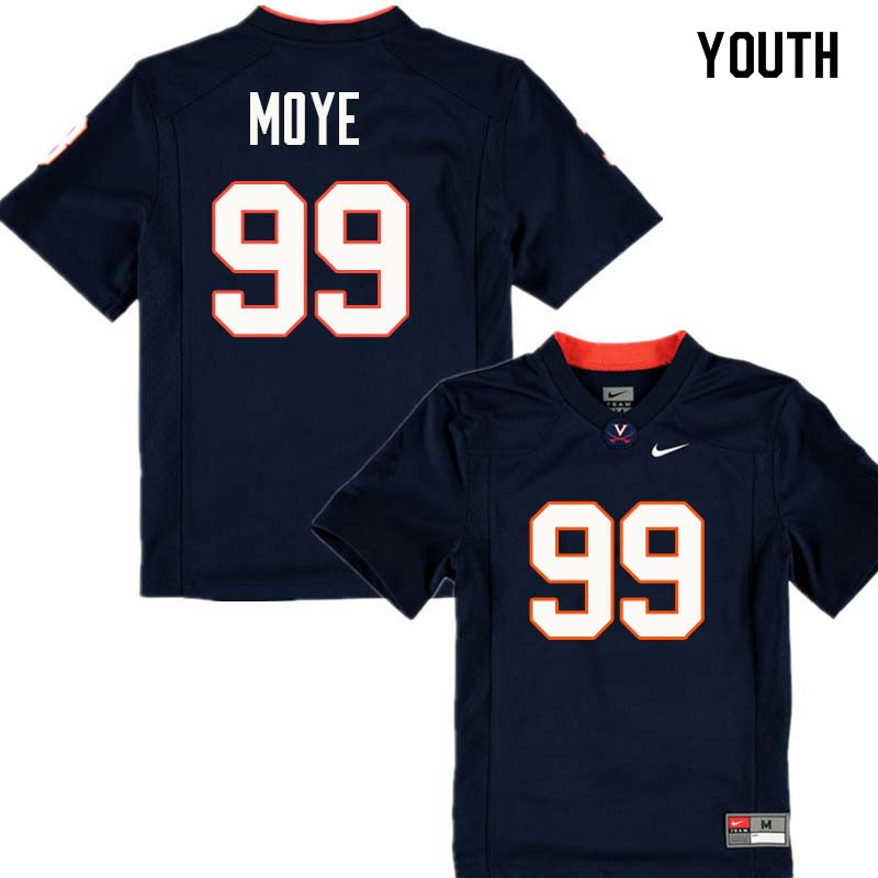 Youth #99 Juwan Moye Virginia Cavaliers College Football Jerseys Sale-Navy