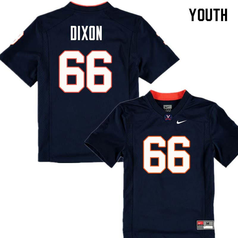 Youth #66 Mark Dixon Virginia Cavaliers College Football Jerseys Sale-Navy