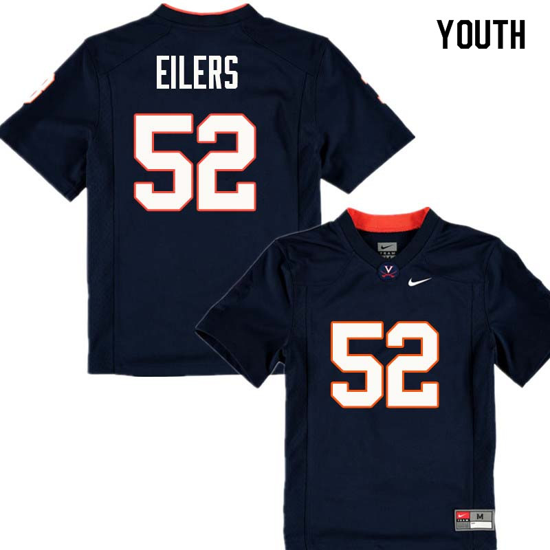 Youth #52 Shane Eilers Virginia Cavaliers College Football Jerseys Sale-Navy